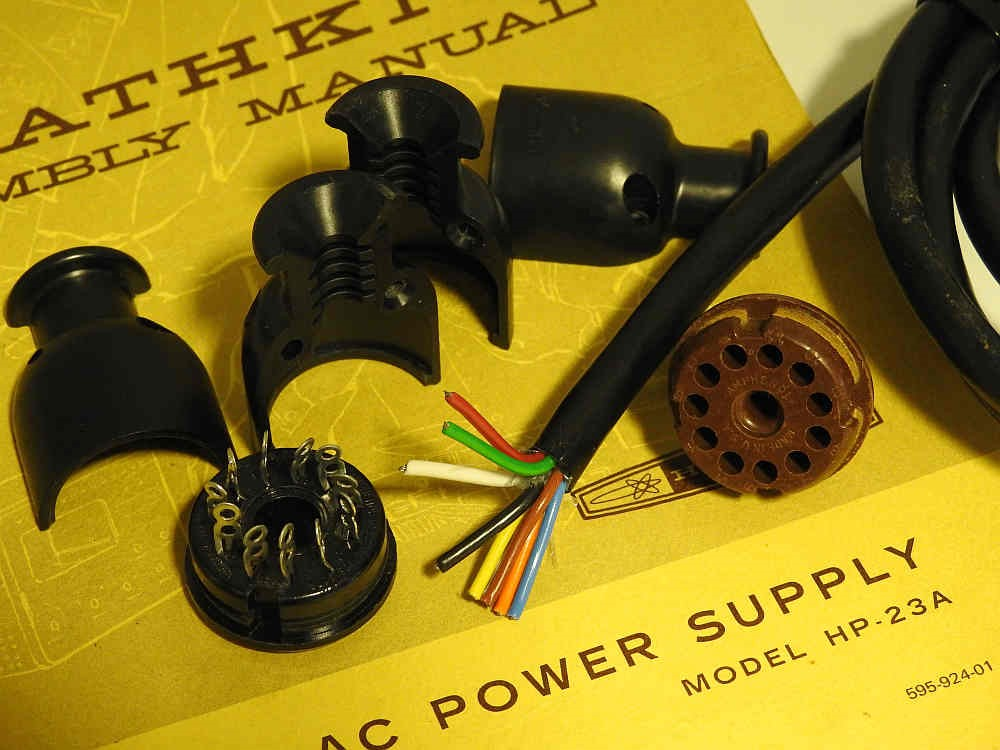 BRAND NEW 11 PIN CABLE FOR HEATHKIT SB RADIOS AND HP POWER SUPPLIES FREE DEL.